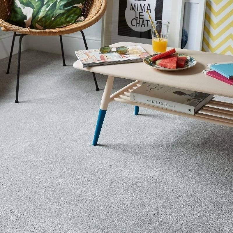 Cormer Carpets - grey carpet and furniture