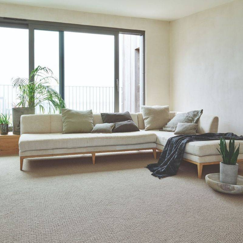 Crucial Trading - Beige cord carpet in bedroom